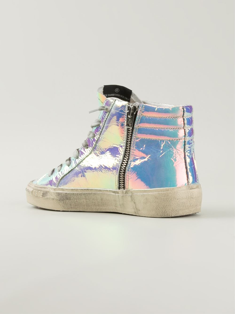 Golden Goose Womens Superstar Leather Sneakers in White - Golden Goose Outlet