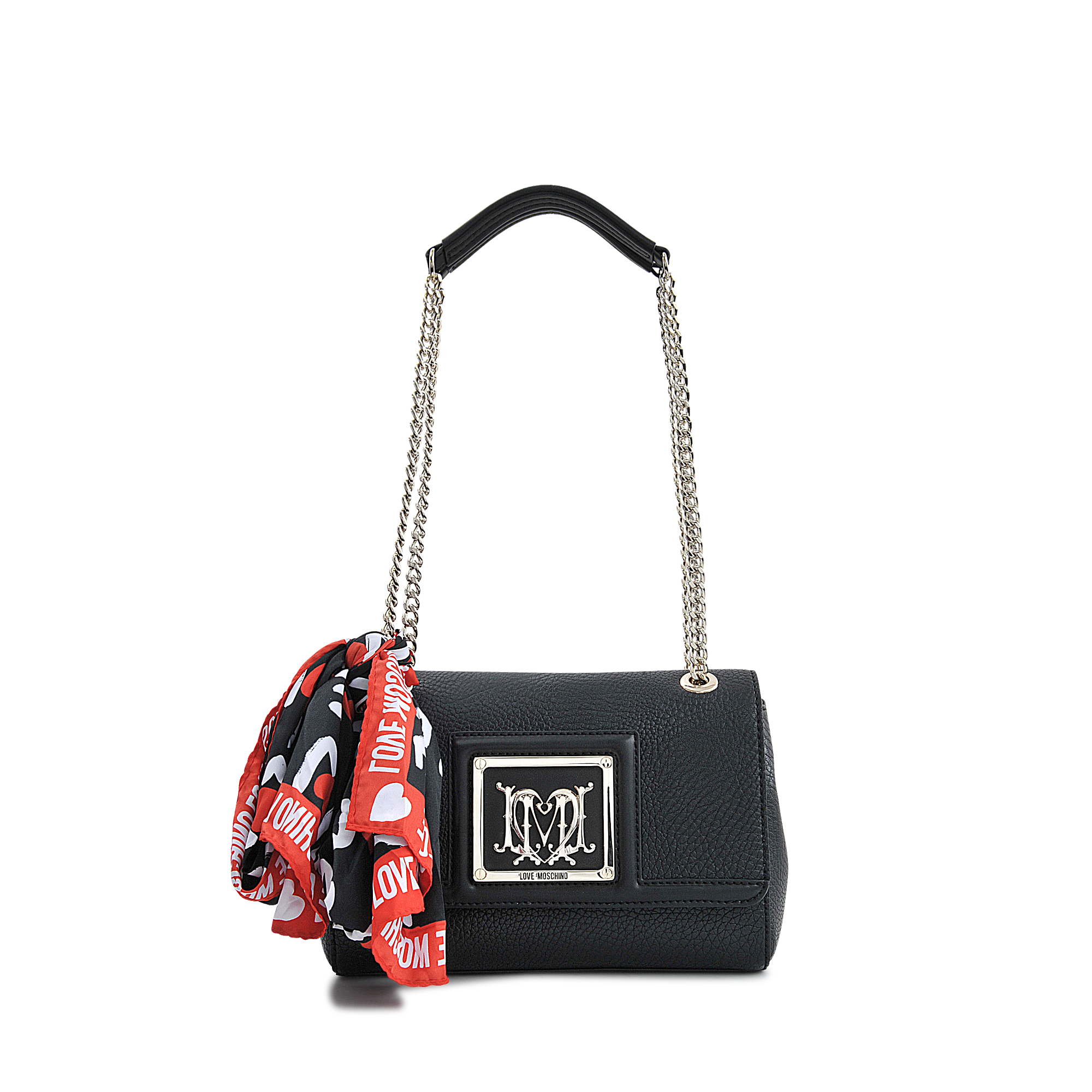 Love moschino I Love Scarf Flap Bag in Black