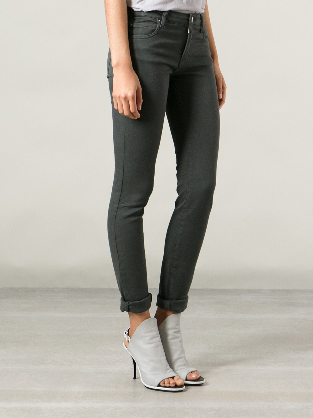 iro aleka skinny jeans in gray lyst. Black Bedroom Furniture Sets. Home Design Ideas