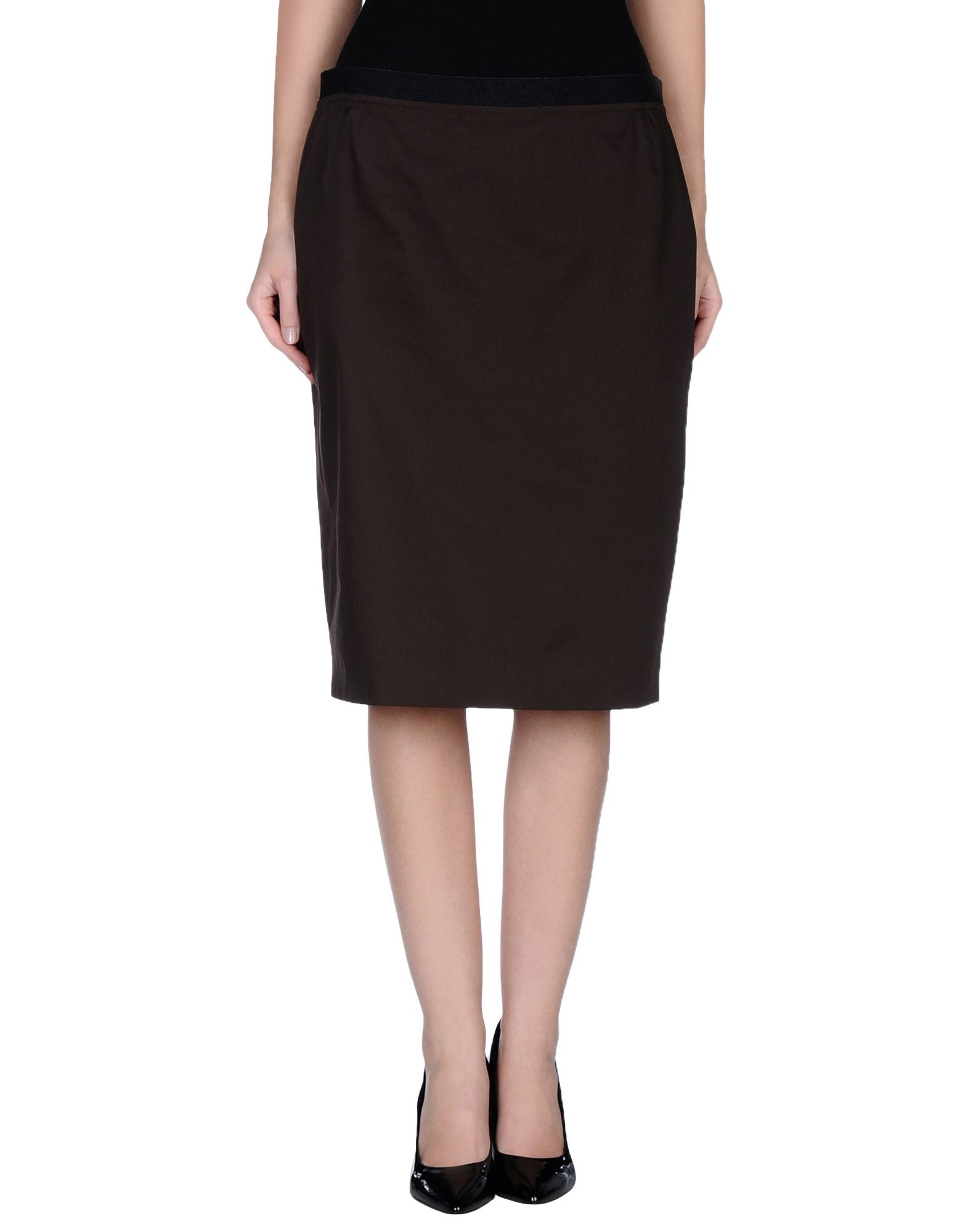Awesome Valentino Knee Length Skirt In Black  Lyst