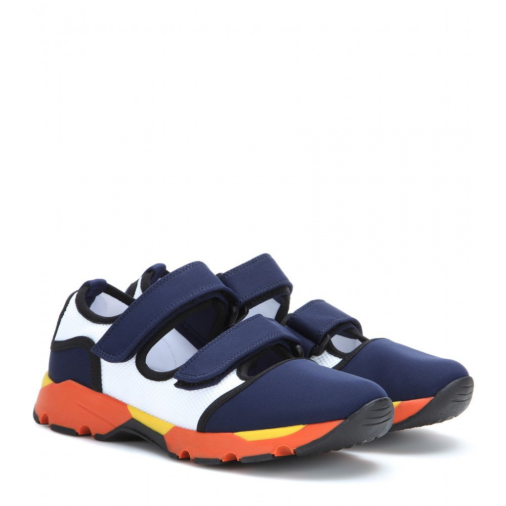 Marni Neoprene Sneakers in Natural