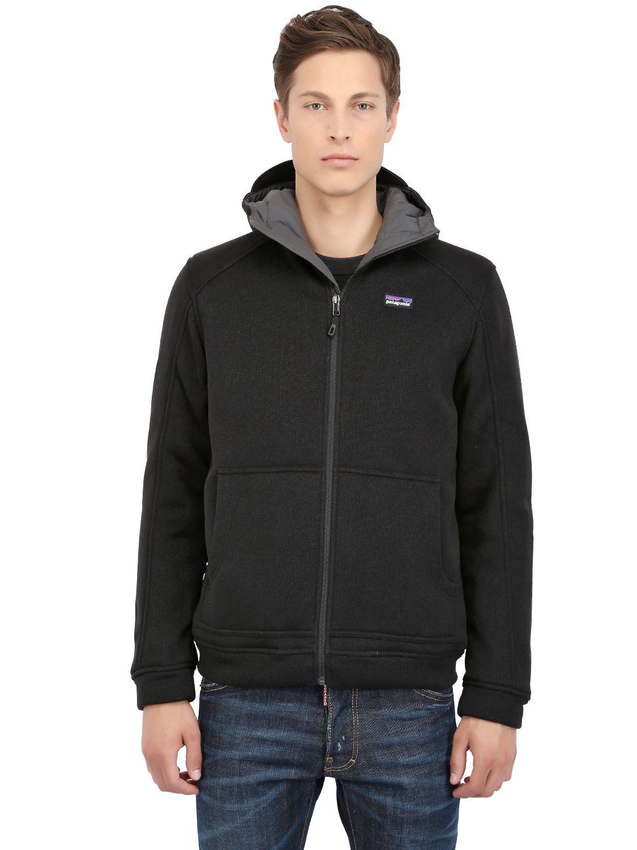 Patagonia Better Sweater Hoody Fleece Jacket in Black for Men | Lyst