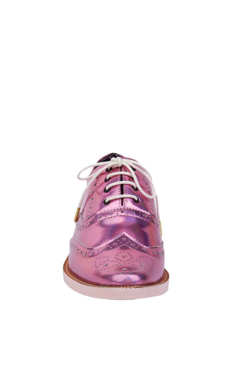 Irregular Choice Nougat Holographic Oxfords In Pink Lyst