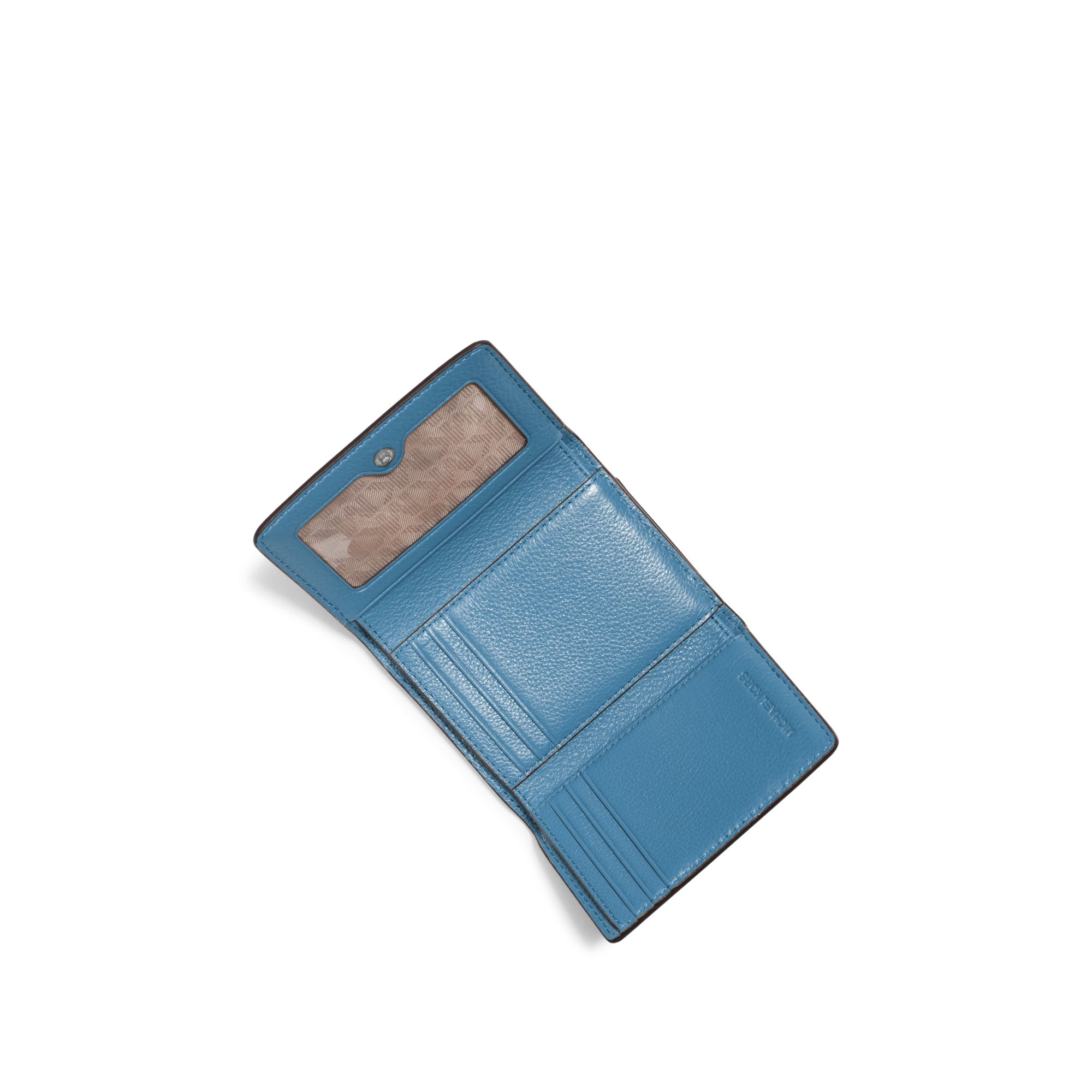 48d704a90a5e9f Michael Kors Liane Small Leather Card Holder in Blue - Lyst