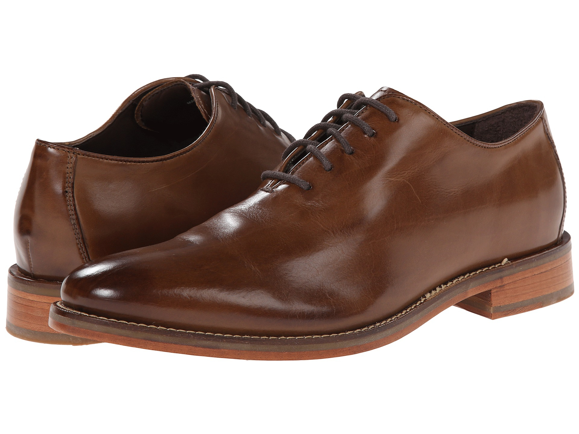 Cole Haan Preston Wholecut Ox- Dark Brown oxfords