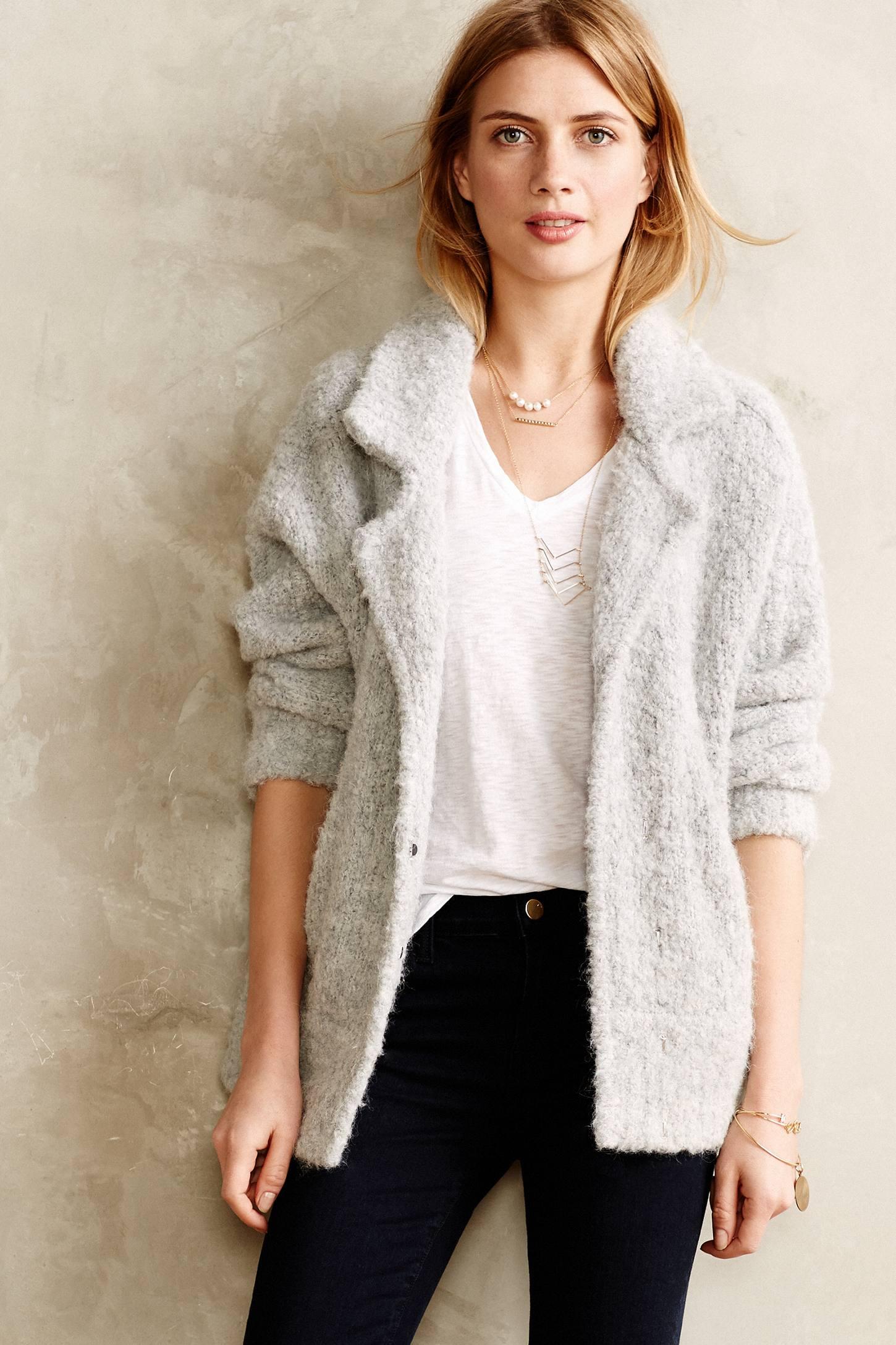 Boucle Sweater Coat Fashion Women S Coat 2017
