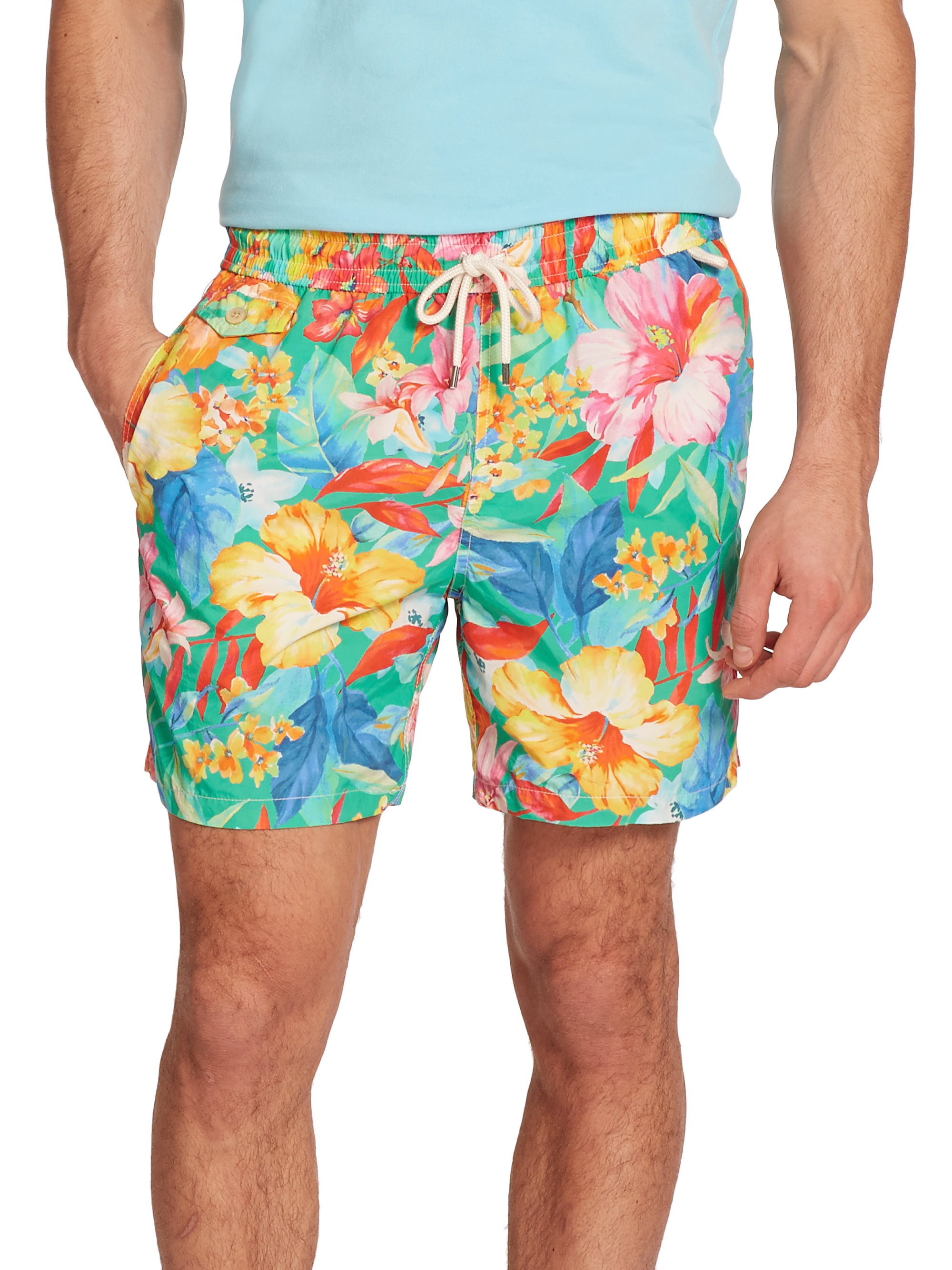 14fa4817d ... sweden lyst polo ralph lauren traveler floral swim shorts for men 1fbd1  a1a40