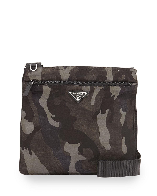 Prada Tessuto Camo Print Crossbody Bag
