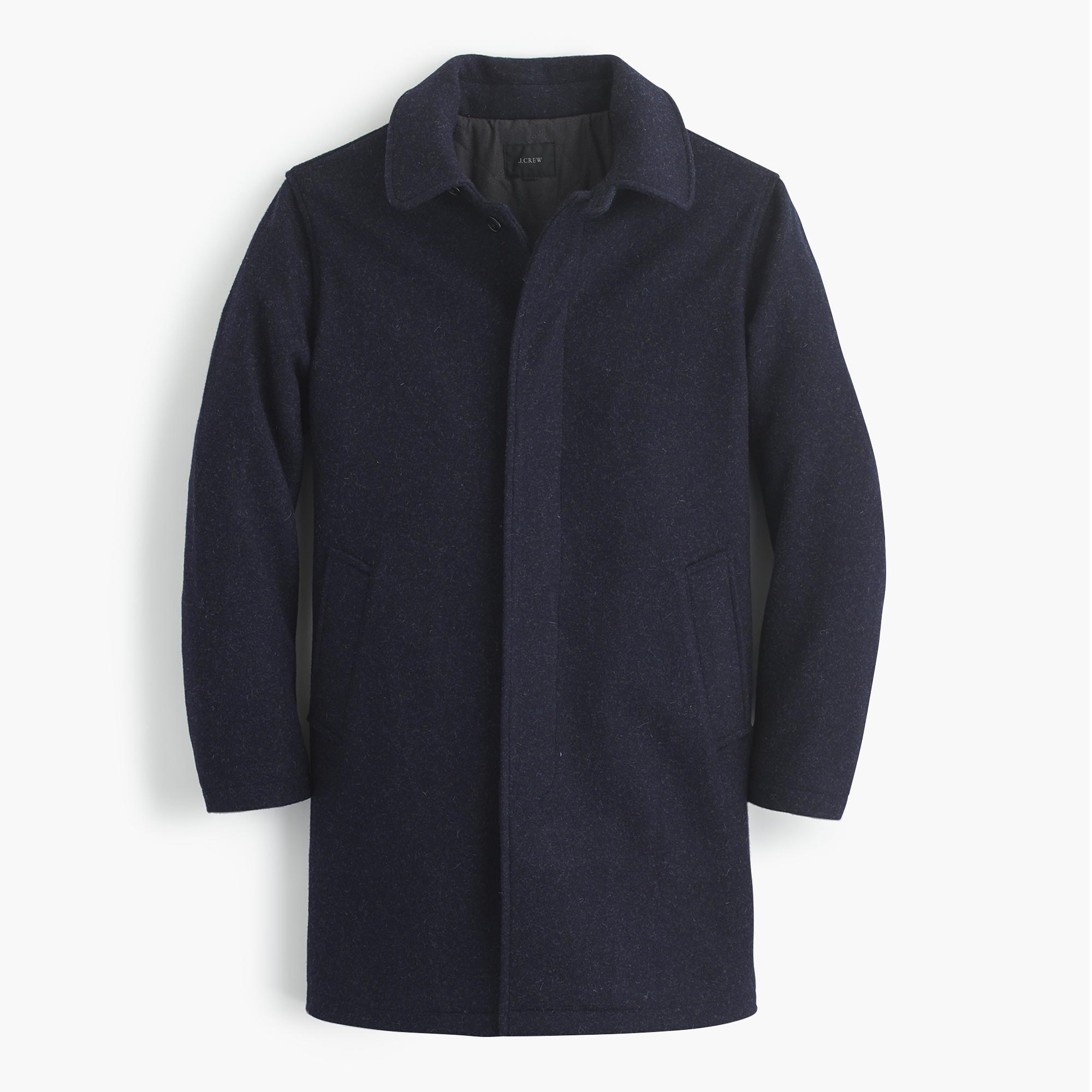 J.crew Wool Car Coat With Thinsulate in Blue for Men | Lyst