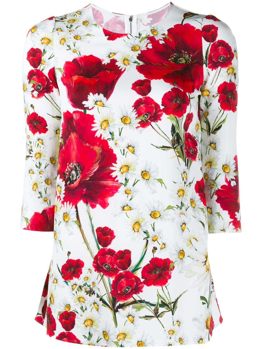 White Shirt With Floral Design Lauren Goss