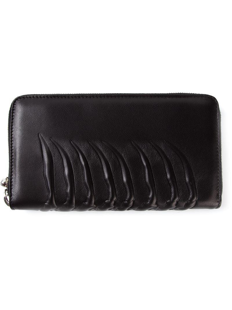 rib cage wallet - Black Alexander McQueen G291Zjk