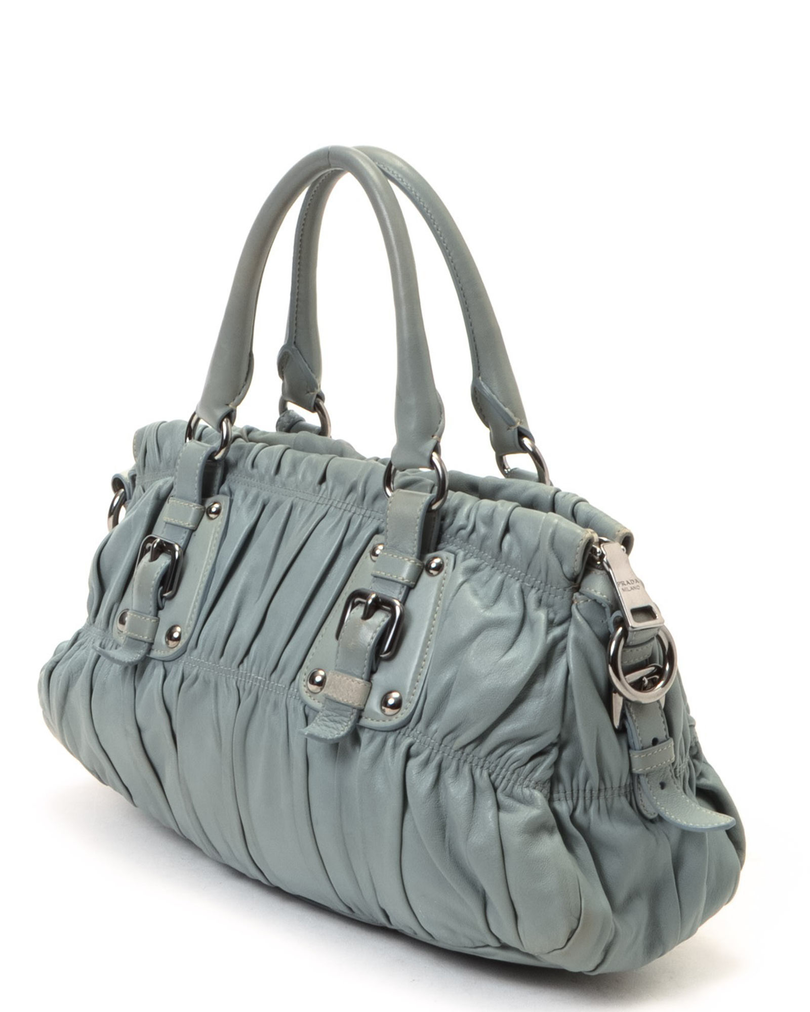 prada frame bag marble gray