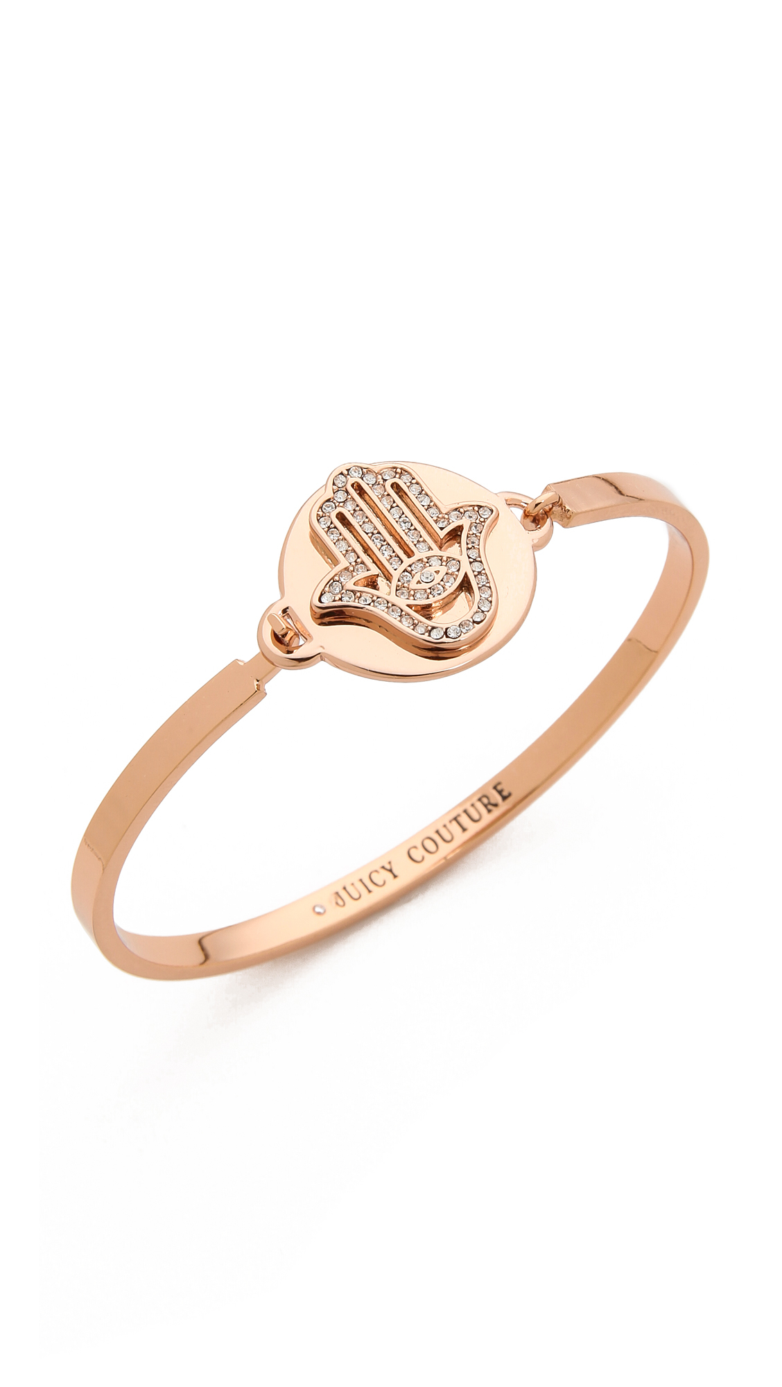 Lyst Juicy Couture Pave Hamsa Bangle Bracelet Rose Gold in Metallic