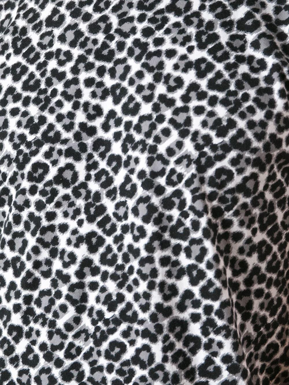 Lyst - Saint Laurent Leopard Print T-Shirt in Black for Men - photo#11