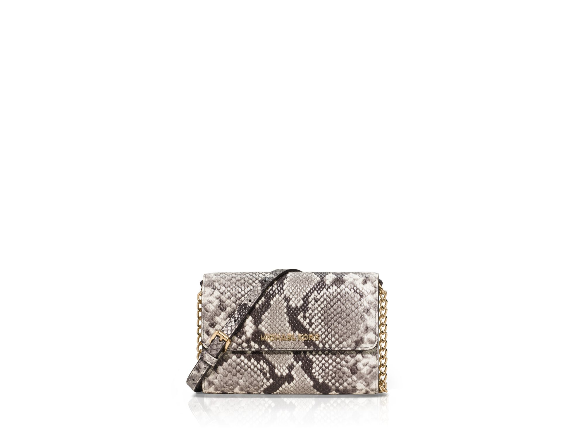 10ae0bccaa0537 MICHAEL Michael Kors Large Snake-embossed Smartphone Crossbody in ...