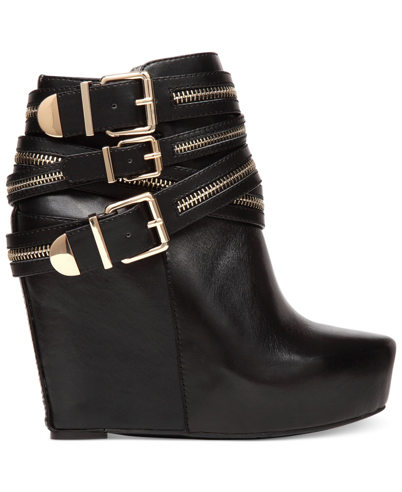 Try a pair of low wedge booties with just a slight lift, or go for the gold in a pair of metallic sneaker booties that have that athleisure look totally down. These flat booties look great with a breezy sundress, a pair of high-waisted shorts or even your favorite boyfriend jeans.