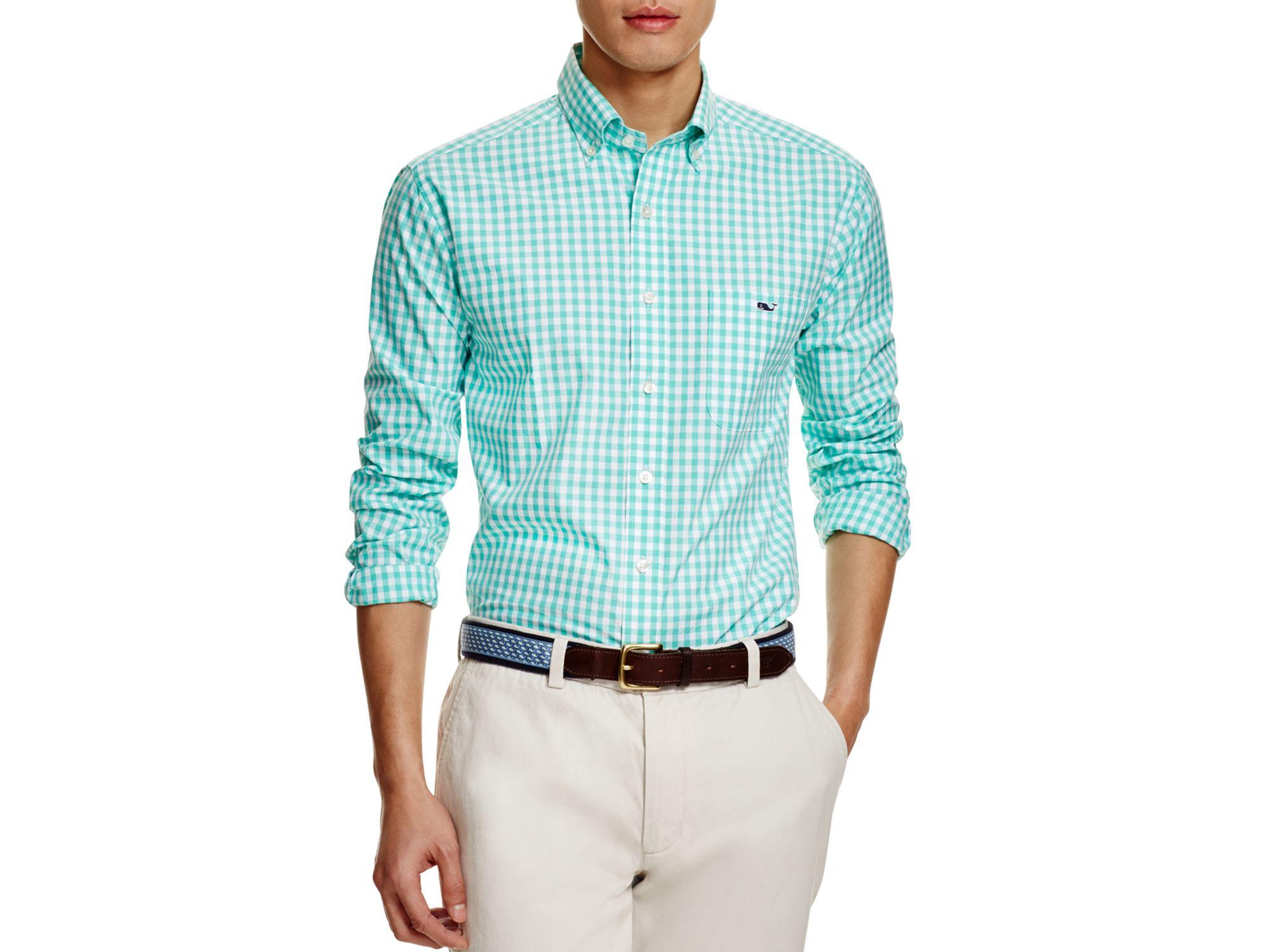 Vineyard Vines Tucker Gingham Slim Fit Button Down Shirt