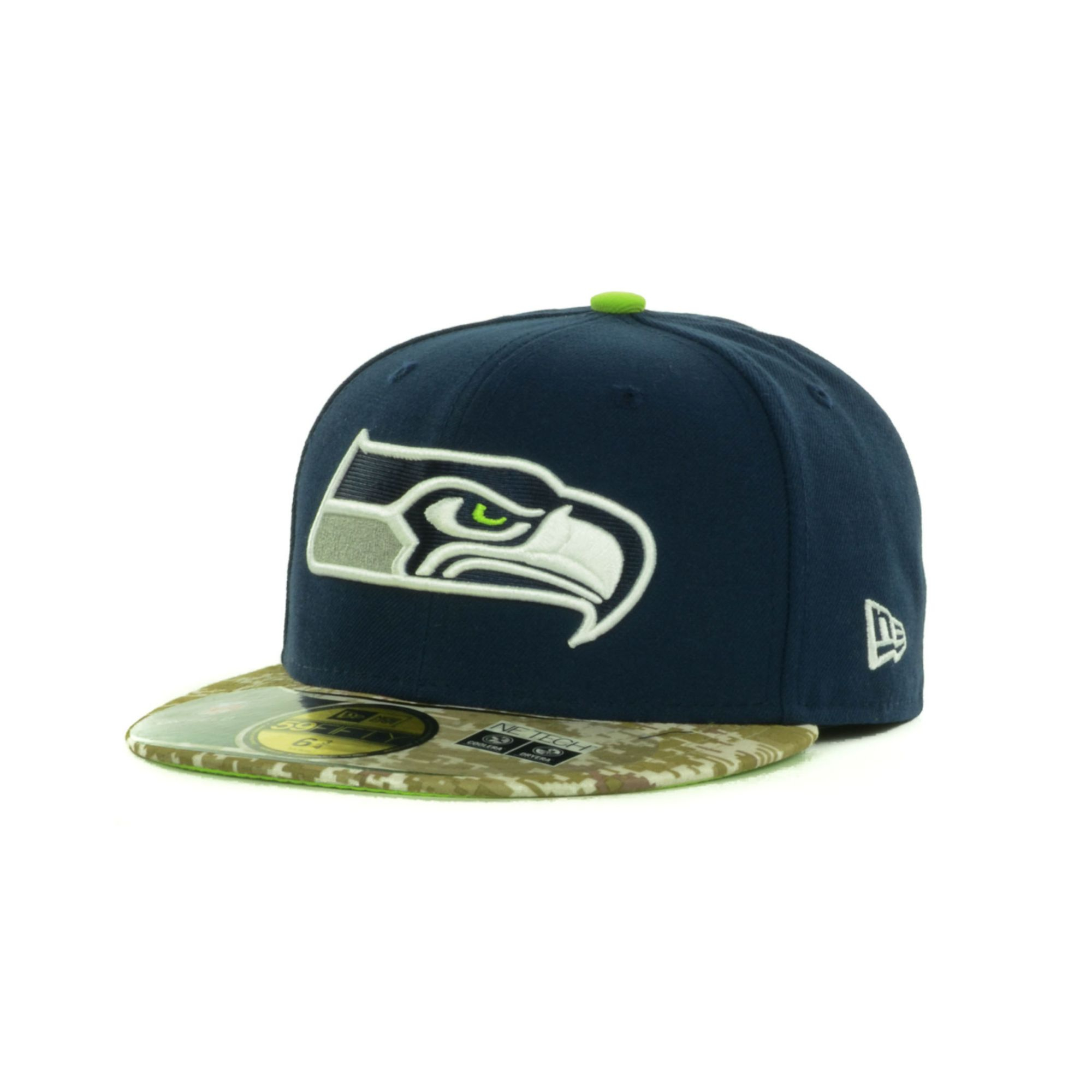 new era seattle seahawks salute to service on field. Black Bedroom Furniture Sets. Home Design Ideas