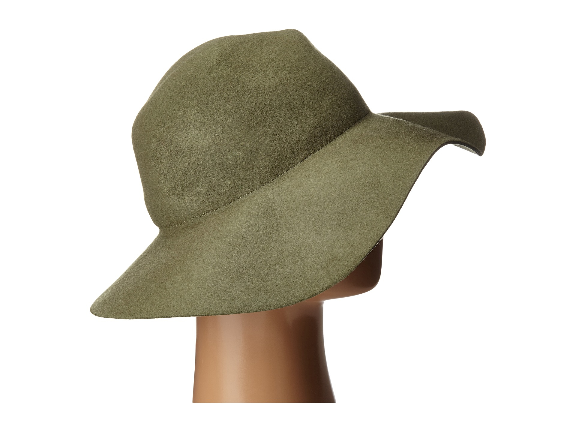 af1a5fdc5 Vince Camuto Wool Felt Panama Hat in Green - Lyst
