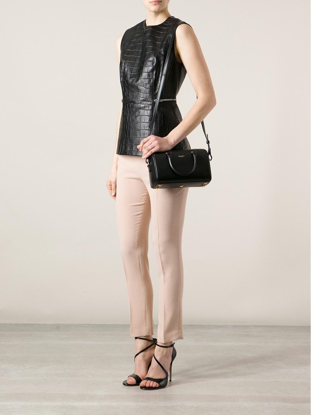 aa96a703d1a Saint Laurent Classic Duffle Bag in Black - Lyst