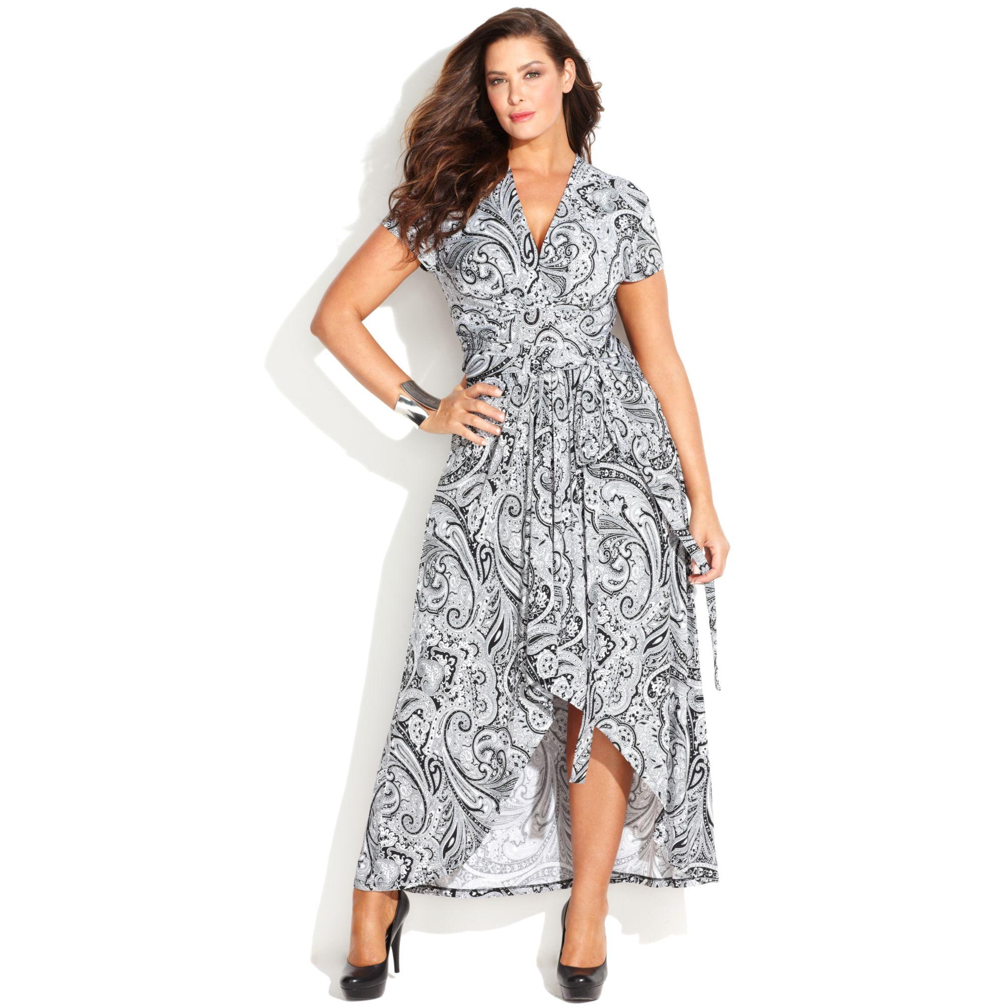 Michael Kors Michael Plus Size Printed Fauxwrap Maxi Dress