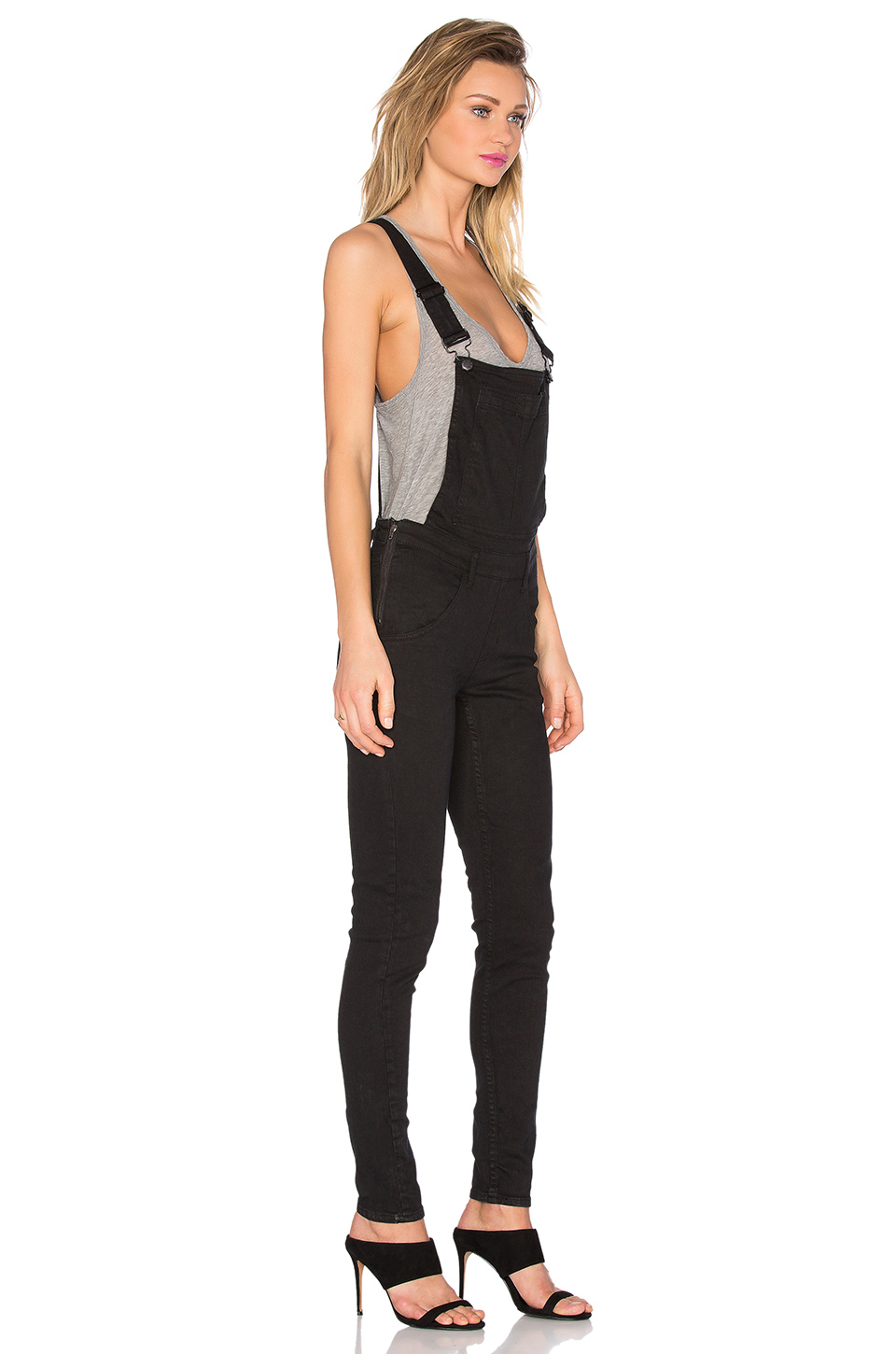 Cheap monday Dungaree Overall in Black | Lyst