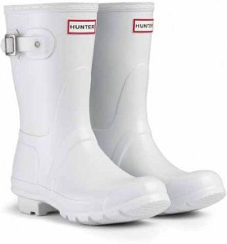 White short hunter rain boots – abdw