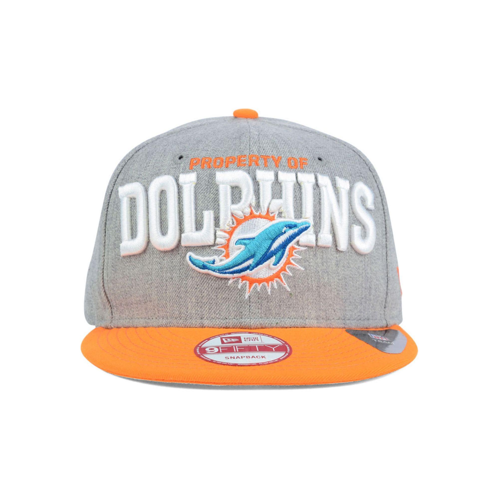 Men's Miami Dolphins New Era Orange Flip Up Team Redux 9FIFTY Snapback Adjustable Hat