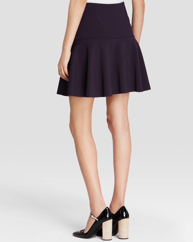 burch ponte circle mini skirt in blue medium navy