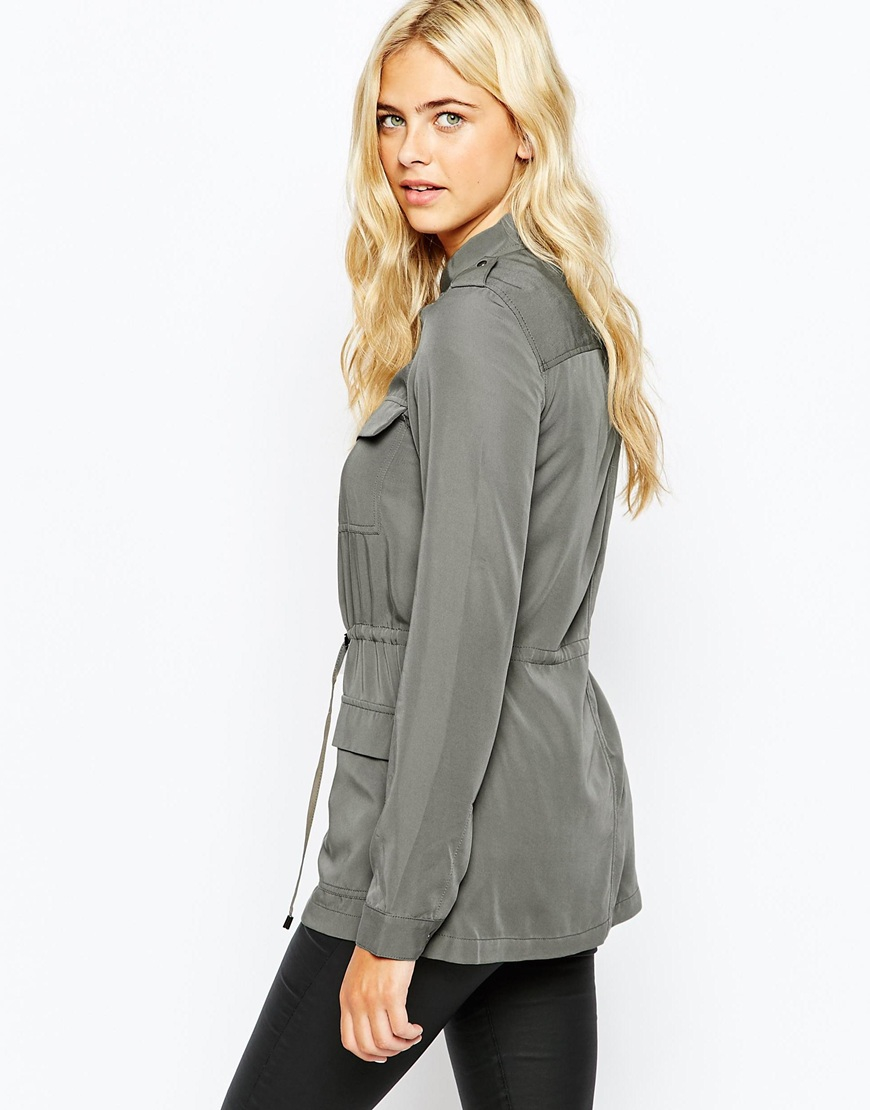 Oasis Utility Jacket in Gray | Lyst