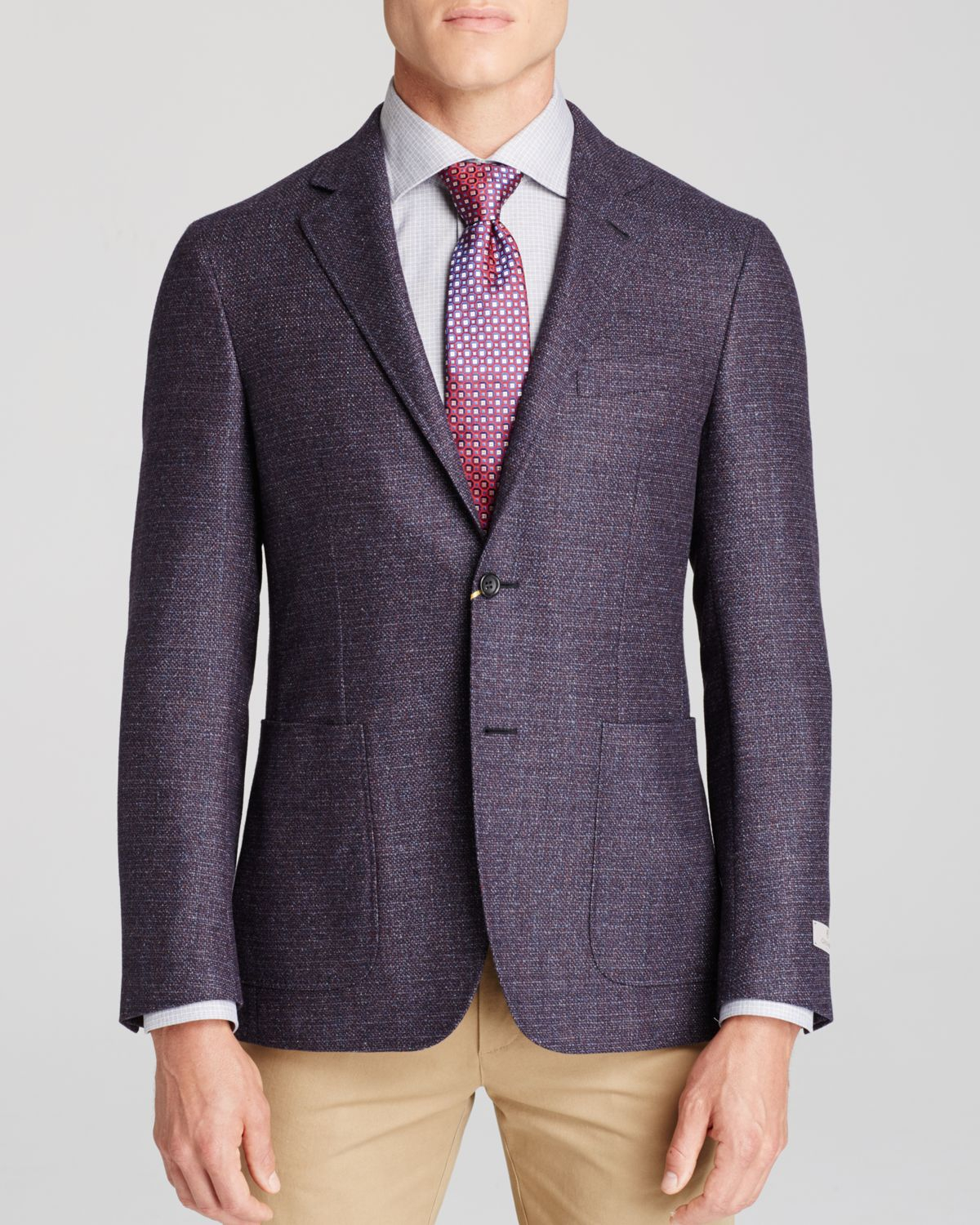 Canali Boucle Kei Classic Fit Sport Coat in Purple for Men | Lyst