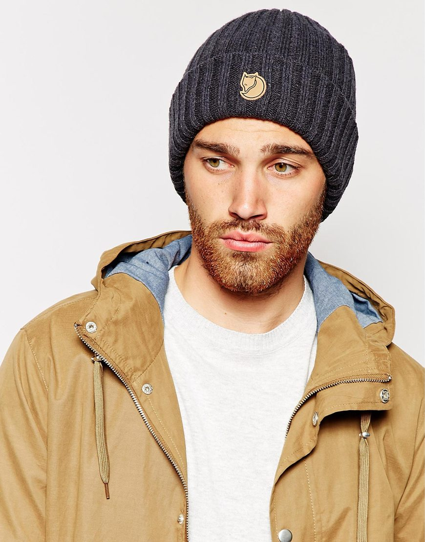 Lyst - Fjallraven Byron Beanie Hat in Gray for Men 6b8d5dd5db6