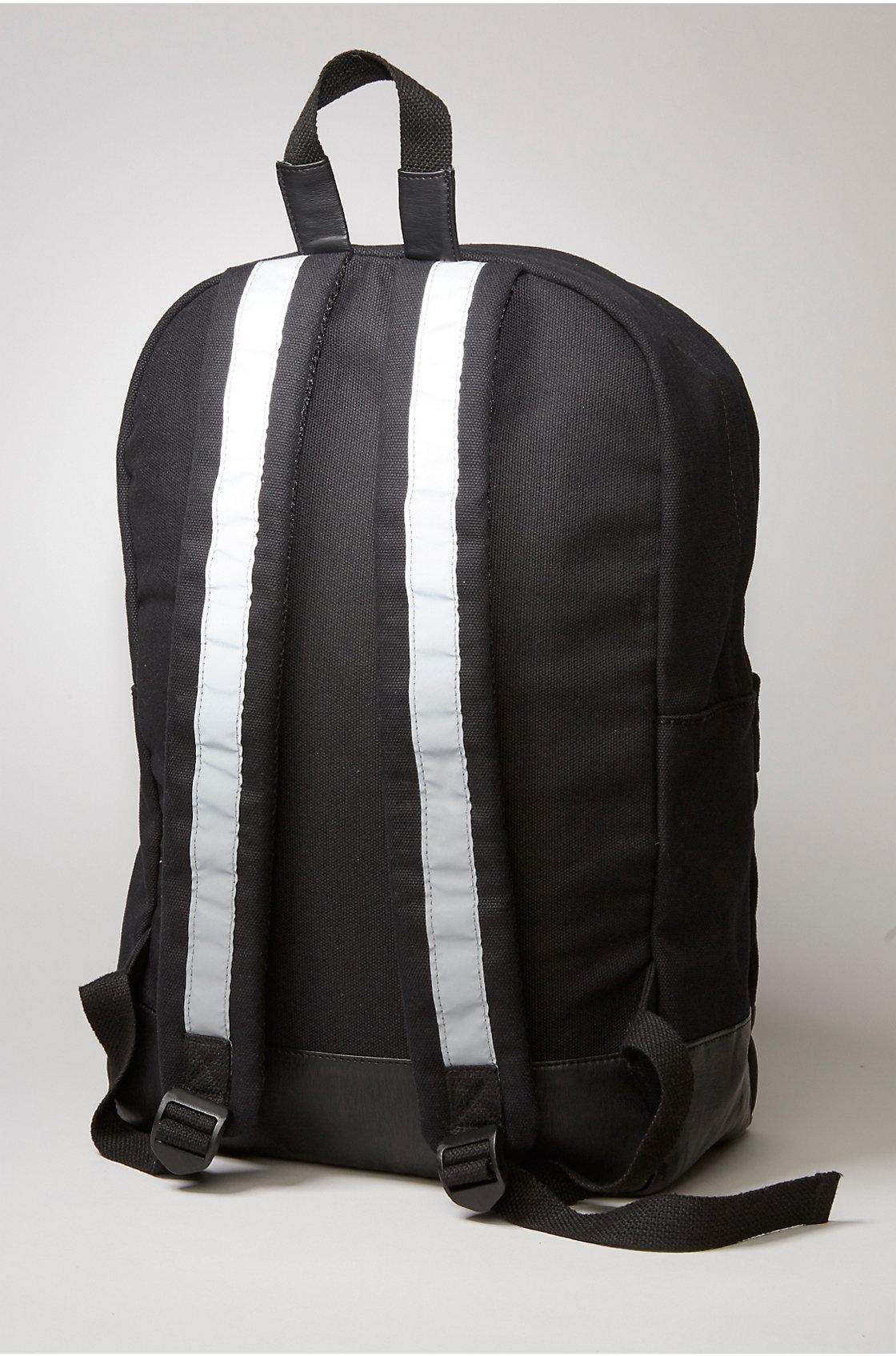 True Religion Reflective Backpack In Black For Men