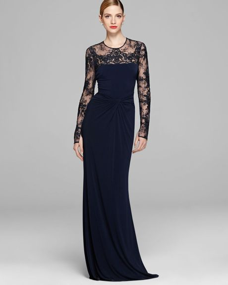 2f57962c This strapless embellished floor length gown from David Meister will be the  best dress hire option for your black tie or formal event.