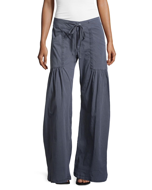 Xcvi Willowy Wide-Leg Drawstring Cargo Pants in Gray | Lyst