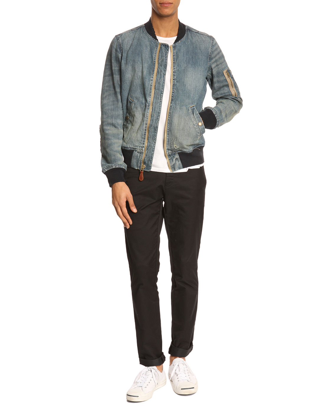 Free shipping and returns on Men's Denim Coats & Jackets at fabulousdown4allb7.cf Skip navigation. Give a little wow. The best gifts are here, every day of the year. Shop gifts. Designer. Givenchy Denim Bomber Jacket with Faux Shearling Lining. $1, New! ROLLA'S Lined Denim Jacket.