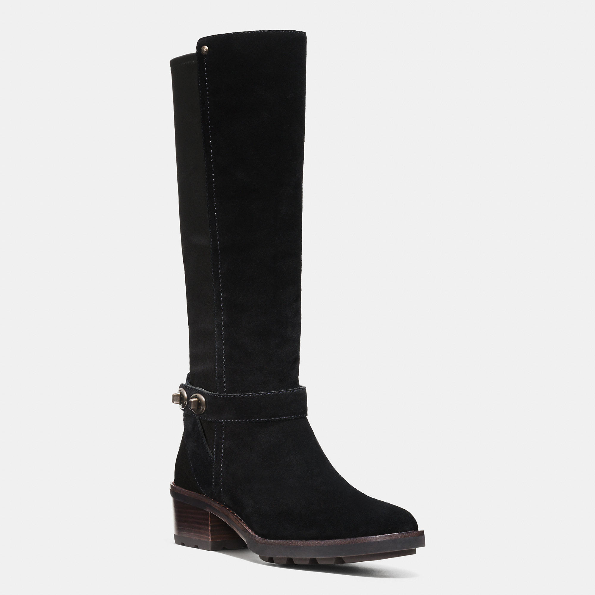coach pearla boot in black lyst