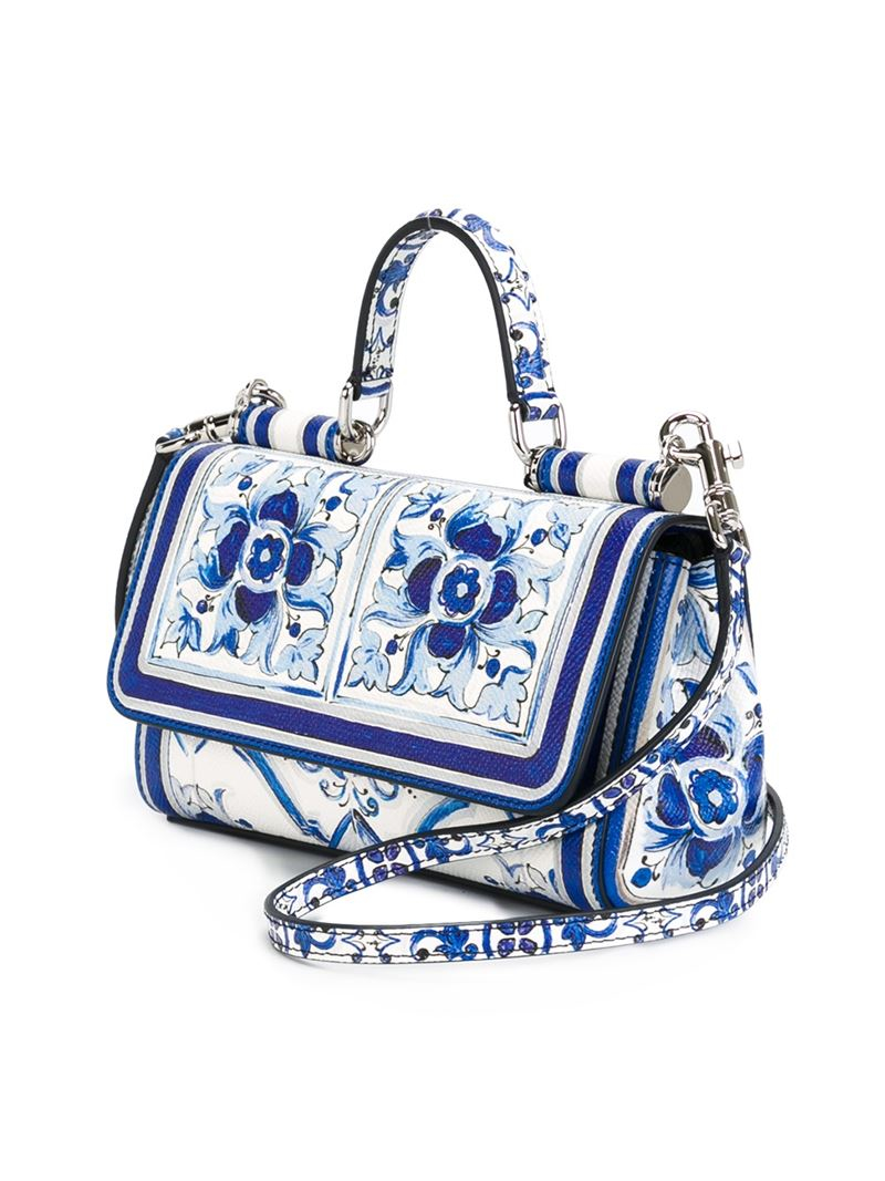 Dolce & Gabbana 'dauphine' Printed Cross-body Bag in Blue (White)