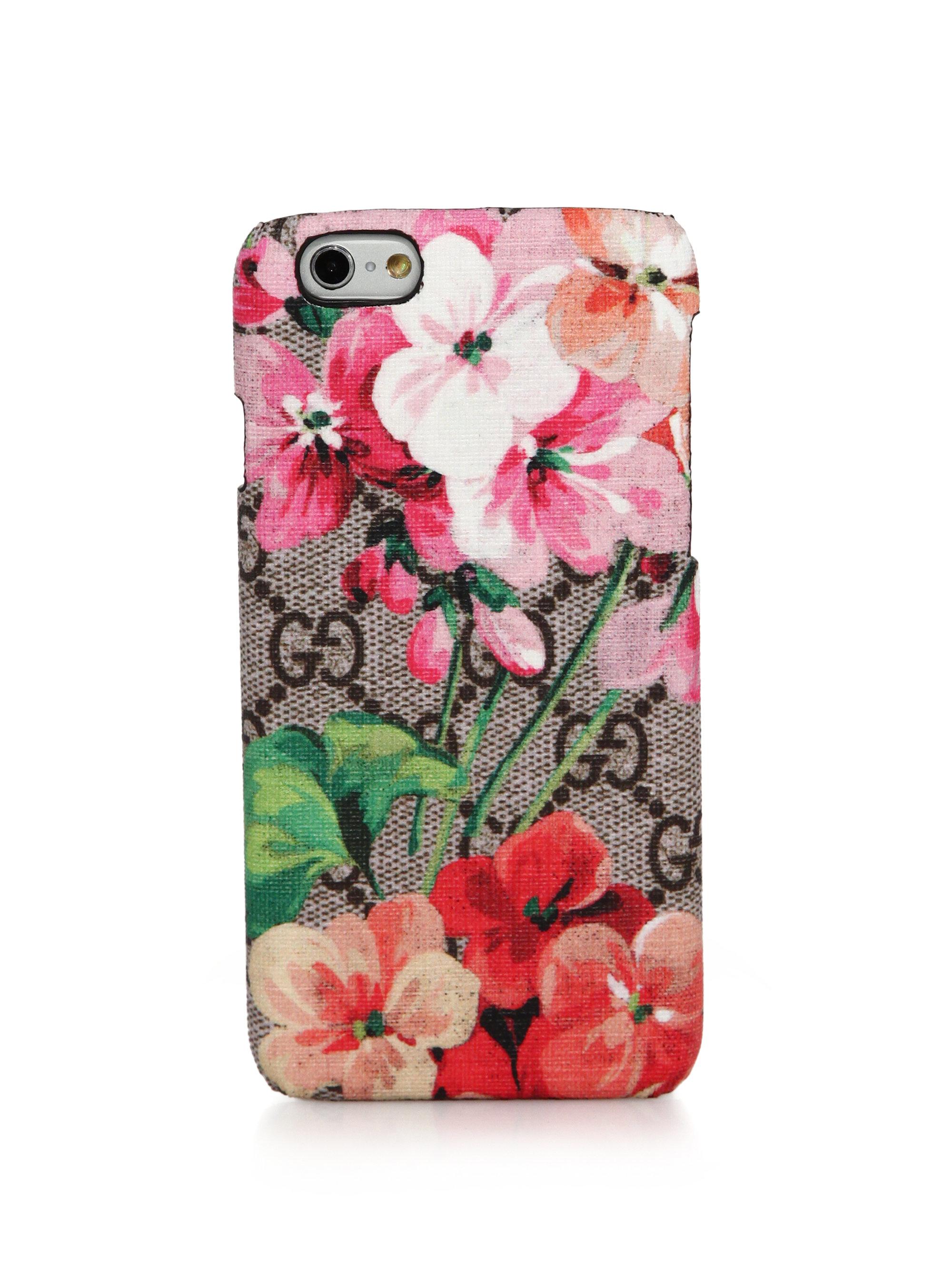 super popular 597b7 ff62e Gucci Pink Blooms Gg Supreme Canvas Iphone 6 Case