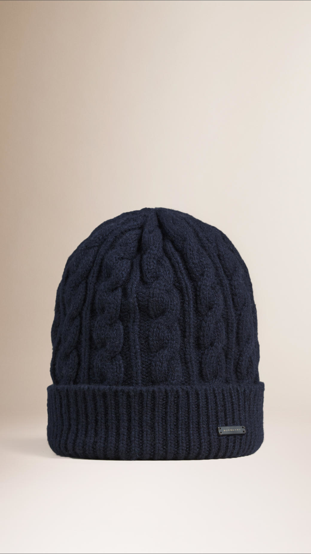 cable knit beanie - Blue Burberry NBURb