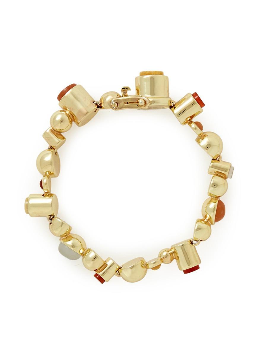 eddie borgo gemstone dome bracelet in multicolor multi