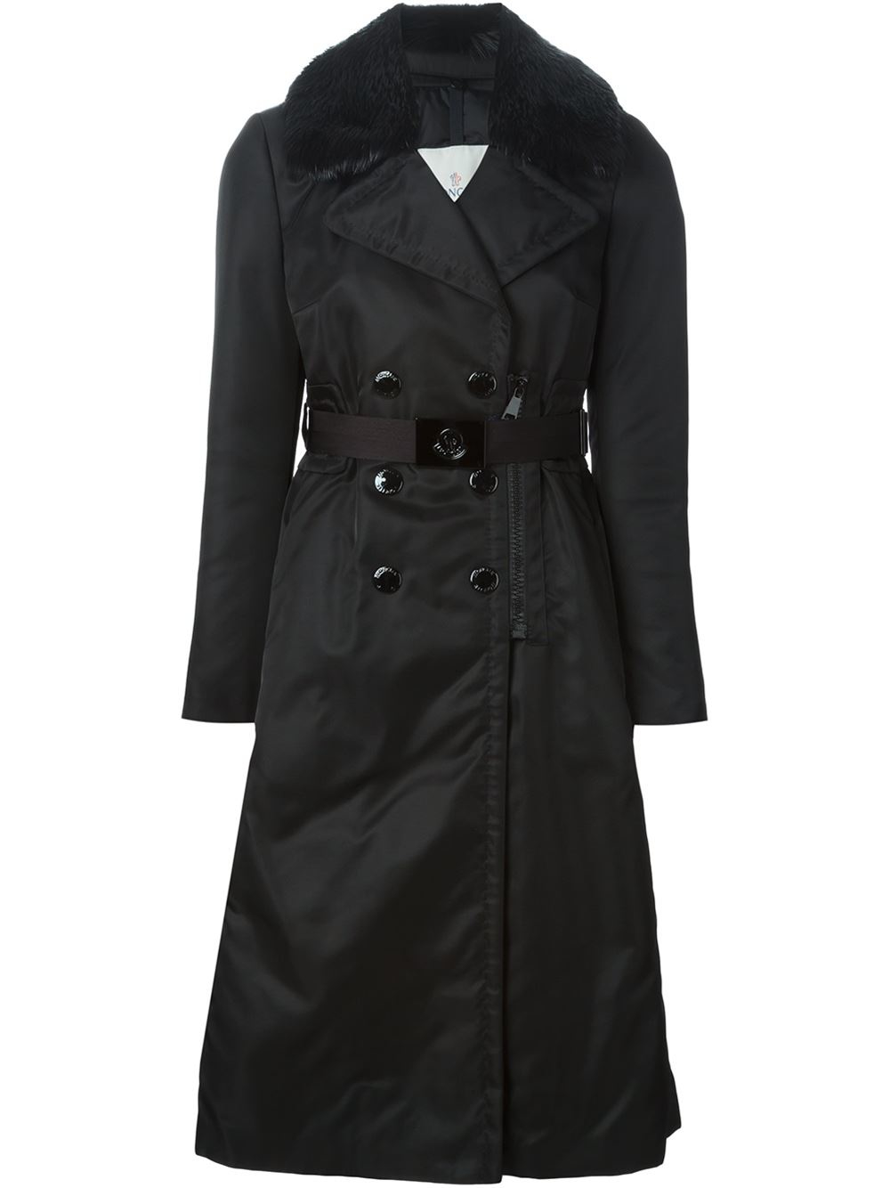 Moncler Sisteron Trench Coat In Black Lyst