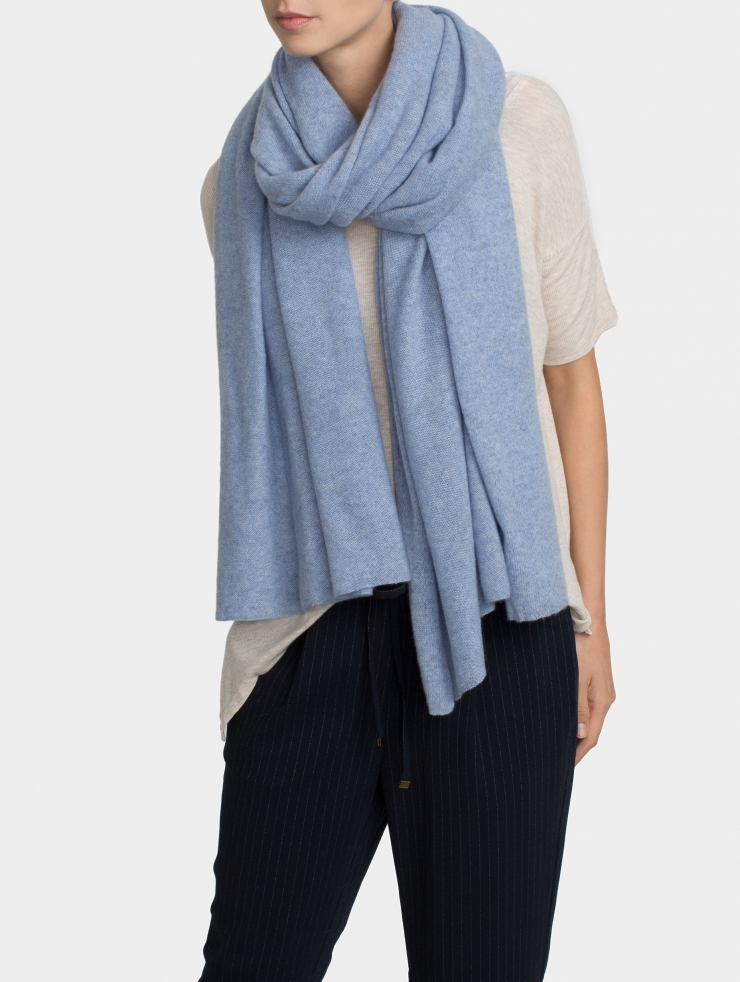 White + Warren Cashmere Travel Wrap in Blue - Lyst