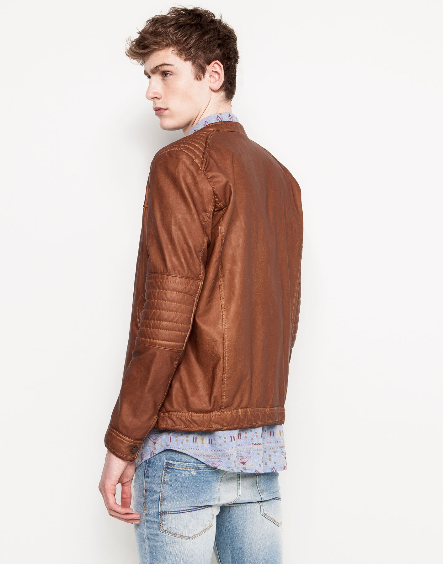 Pull and bear leather jacket