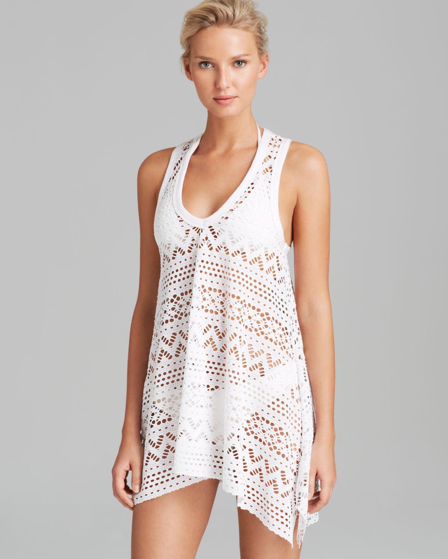 7ddd40cee6 Lyst - Robin Piccone Penelope Crochet Dress Swim Cover Up in White