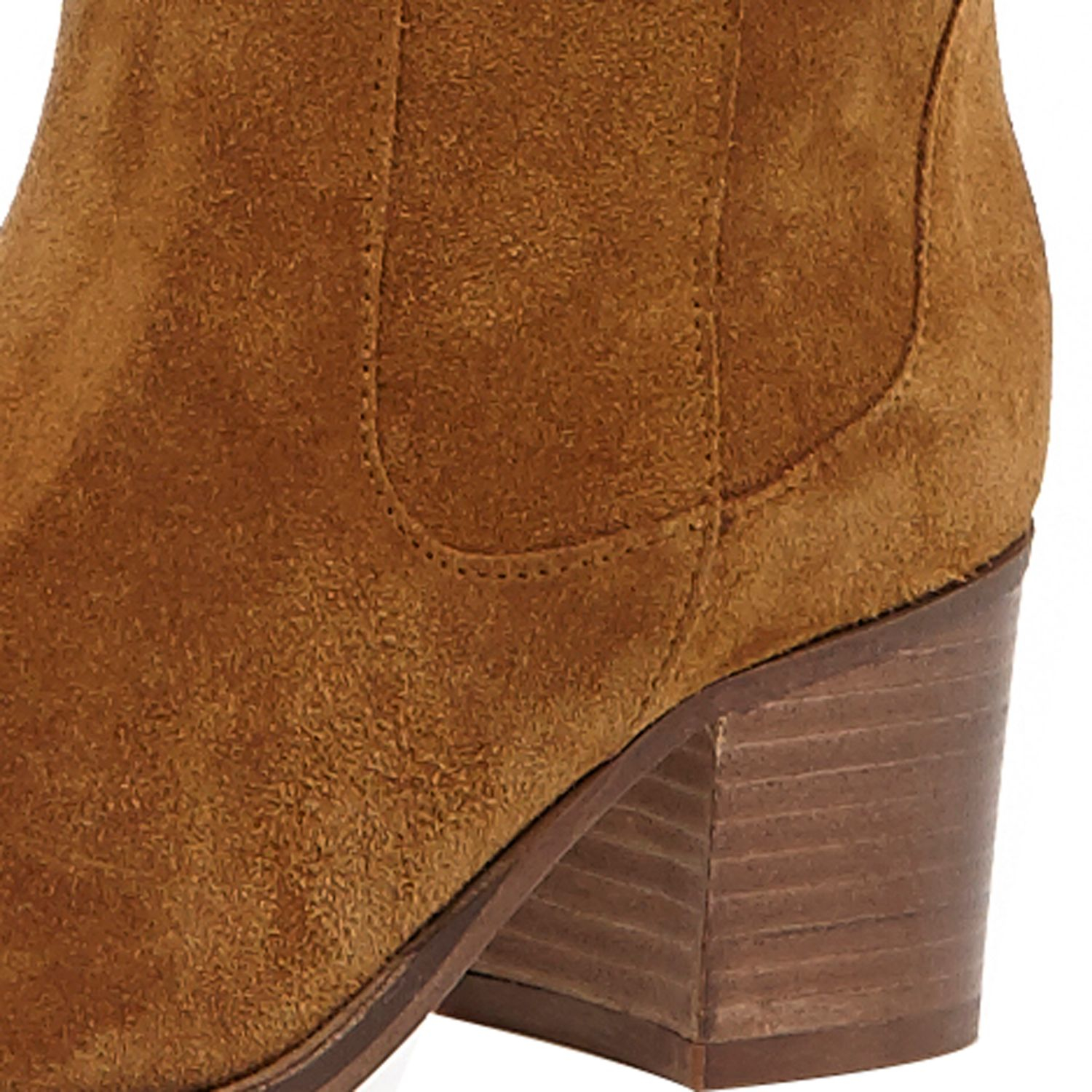 River Island Tan Brown Suede Over The Knee Boots