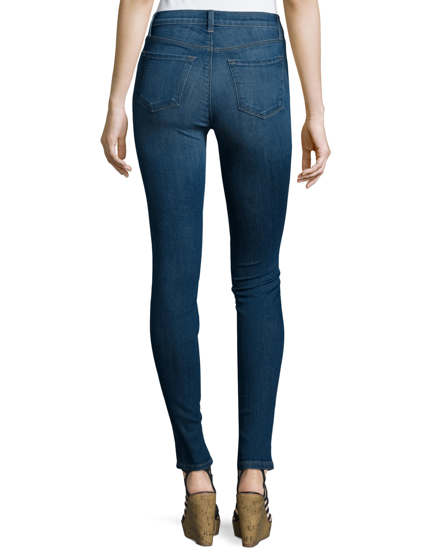 j brand maria high waist skinny jeans in blue lyst. Black Bedroom Furniture Sets. Home Design Ideas