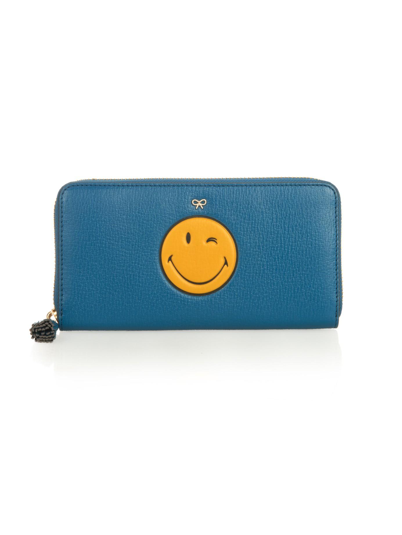 compact Smiley wallet - Blue Anya Hindmarch PdBaWtWh