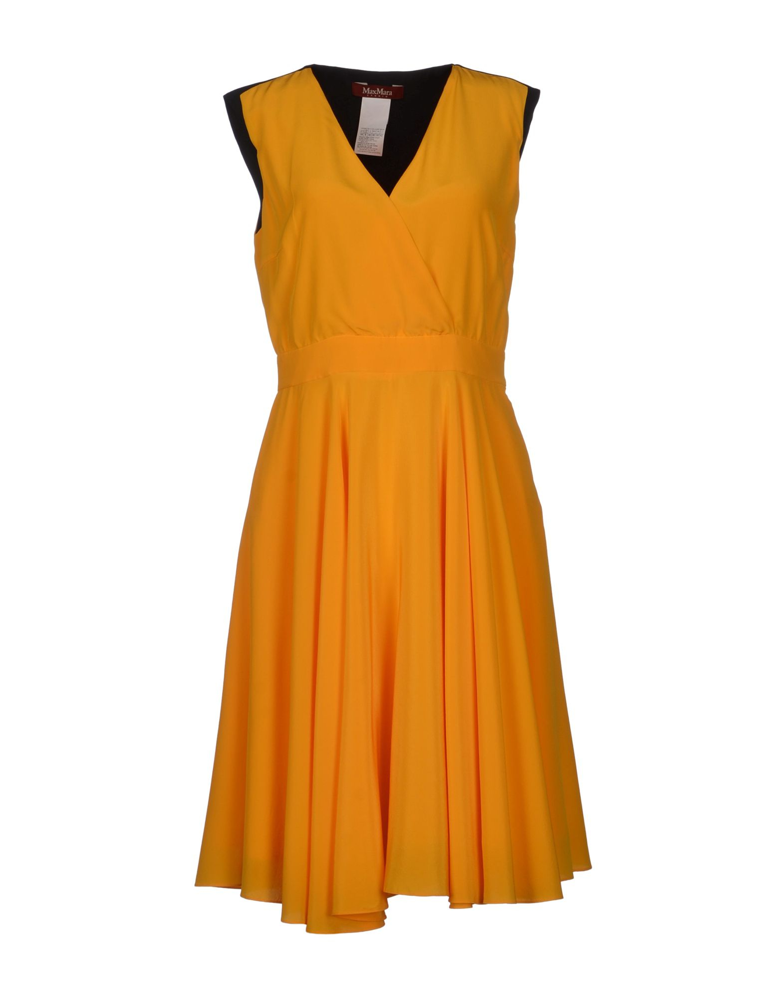 max mara studio kneelength dress in orange apricot lyst. Black Bedroom Furniture Sets. Home Design Ideas