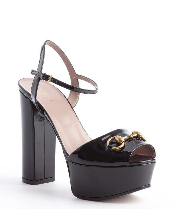 Leather plateau sandals Gucci Eft27c
